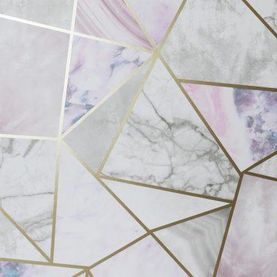 Arthouse Marble Geometric Fragments Rose Gold Pink Grey 697200