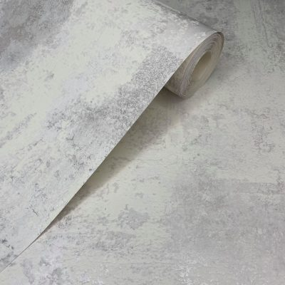 Exposed Metallic Industrial Texture White 50106