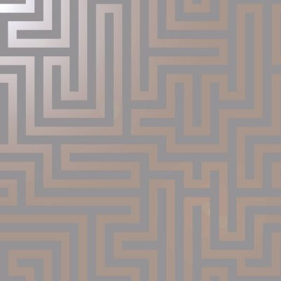 Glistening Maze Wallpaper Grey Rose Gold Holden 12914