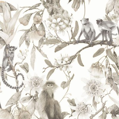 Cheeky Monkeys Sepia Wallpaper Hi959