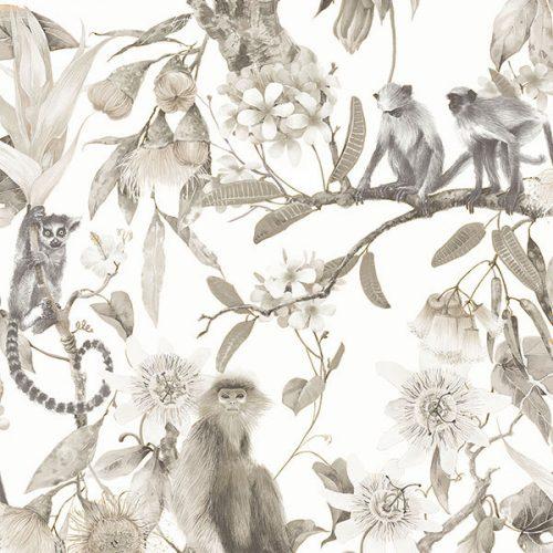 Cheeky Monkeys Sepia Wallpaper Hi959