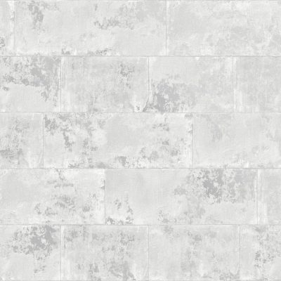Metallic Brick Wallpaper Grey Rasch 248678