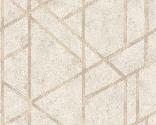 Cream Francesca Concrete Geometric 36928-4 Metropolitan Stories
