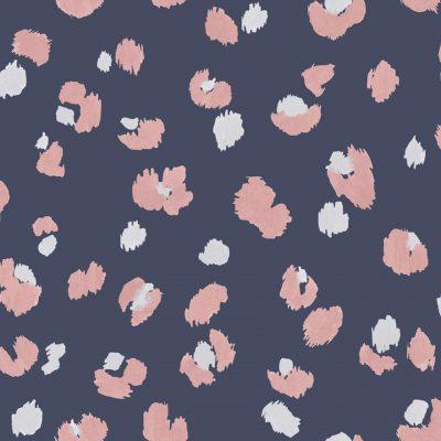 Amur Leopard Print Wallpaper Navy Pink Holden 91071