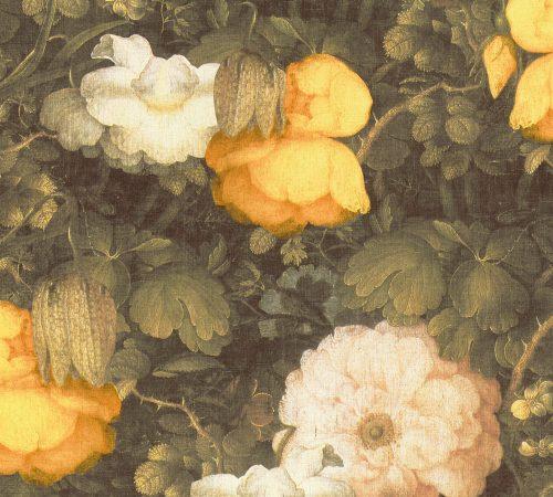 Yellow Large Floral Metropolitan Stories 36921-1 As Creation