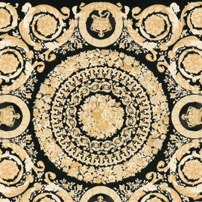 Versace IV Heritage Panel Wallpaper Black Gold 37055-3