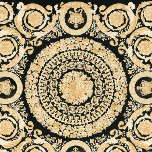 Versace IV Heritage Panel Wallpaper Black Gold 37055-3
