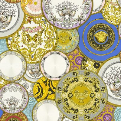 Versace Etoiles Plates Multi metallic 34901-1 Wallpaper