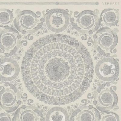 Versace IV Heritage Panel Wallpaper Silver 37055-5