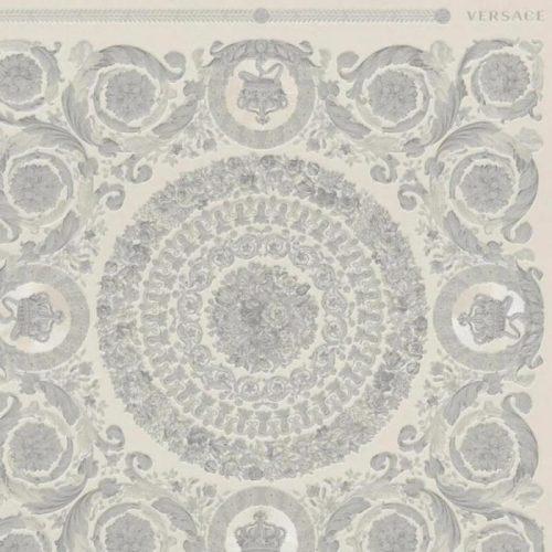 Versace IV Heritage Panel Wallpaper Silver 37055-5