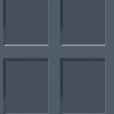 Heritage Wood Panel Effect Navy Blue 6742 Debona Wallpaper