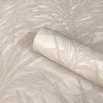 Palm Beige Wallpaper Zambaiti Parati Vinyl GB3860