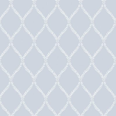 Exclusive Serene Trellis Blue Hi051 Wallpaper