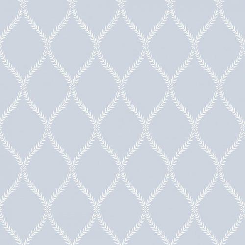 Exclusive Serene Trellis Blue Hi051 Wallpaper