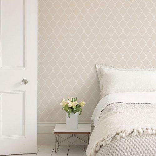 Exclusive Serene Trellis Beige Hi052 Wallpaper