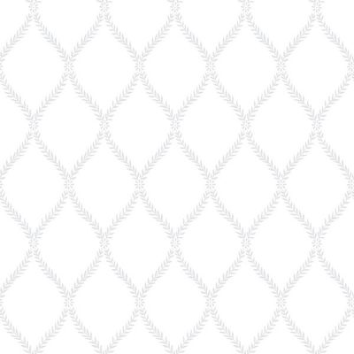 Exclusive Serene Trellis White Hi056 Wallpaper