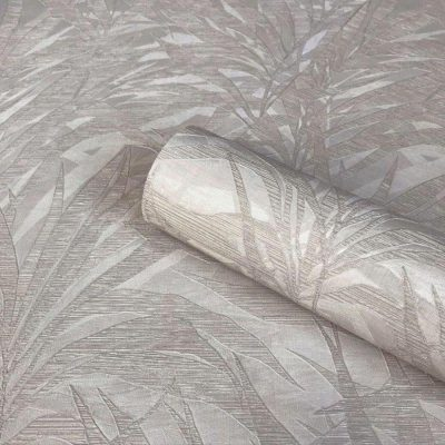 Palm Silver/Grey Wallpaper Zambaiti Parati Vinyl GB3861