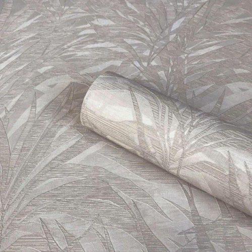 Palm Silver/Grey Wallpaper Zambaiti Parati Vinyl GB3861