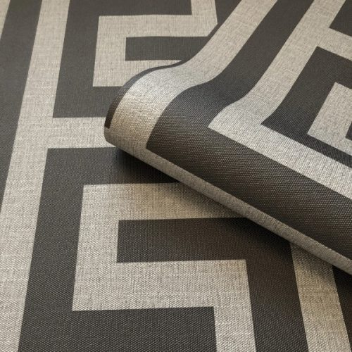 Giorgio Greek Key Gunmetal Silver Belgravia 8107 (G8107) Wallpaper