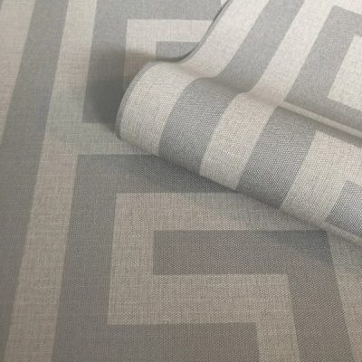 Giorgio Greek Key Soft Silver Belgravia 8109 (G8109) Wallpaper