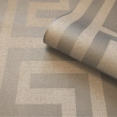 Giorgio Greek Key Beige Silver Belgravia 8108 (G8108) Wallpaper