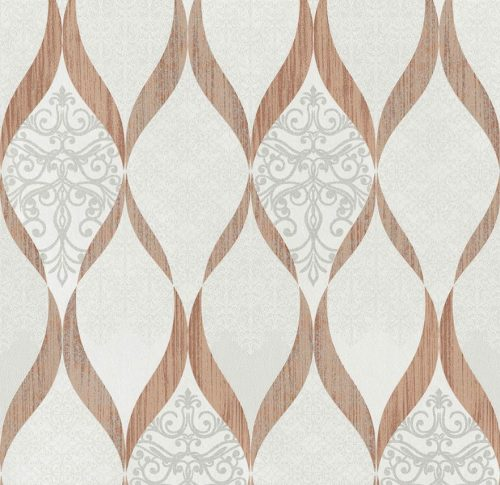 41006-30 Glass Bead Wave Rose Gold Deluxe Wallpaper