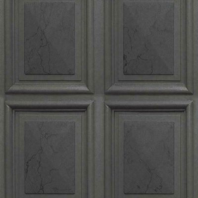 Marble Wood Panel Dark Grey Erismann 6319-47 Wallpaper