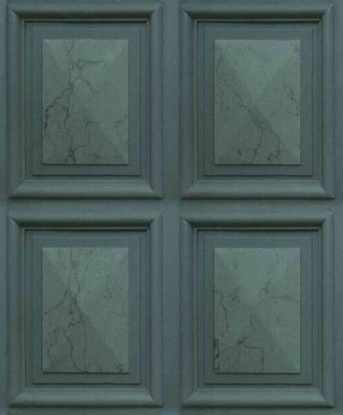Marble Wood Panel Teal Erismann 6319-18 Wallpaper