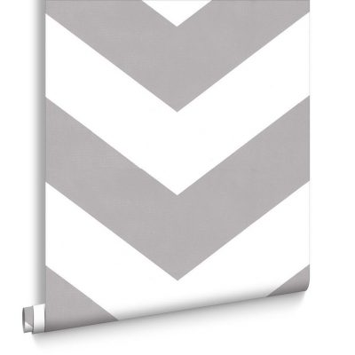 grey and white chevron wallpaper