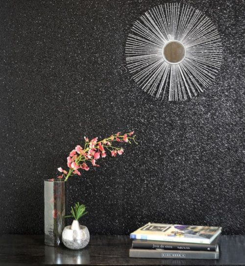 900901 Sequin Sparkle Black Wallpaper By Arthouse