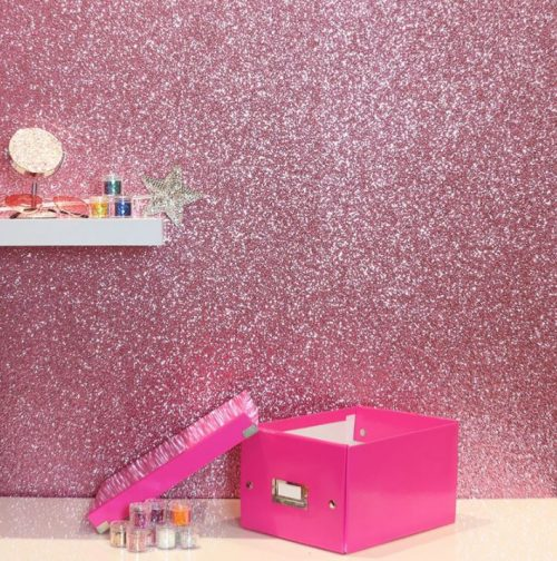 900904 Sequin Sparkle Pink Wallpaper By Arthouse