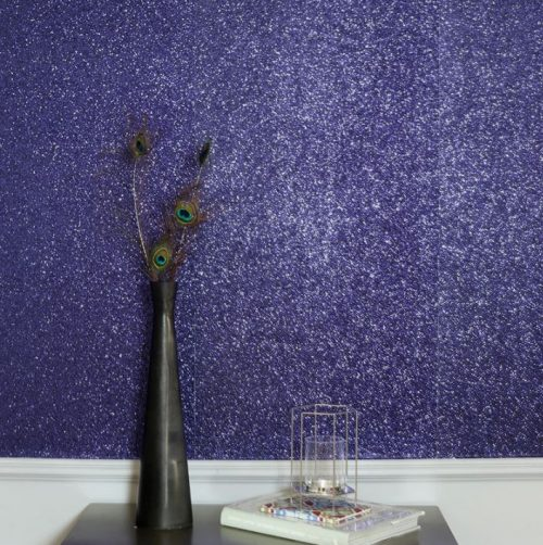 900906 Sequin Sparkle Navy Wallpaper By Arthouse