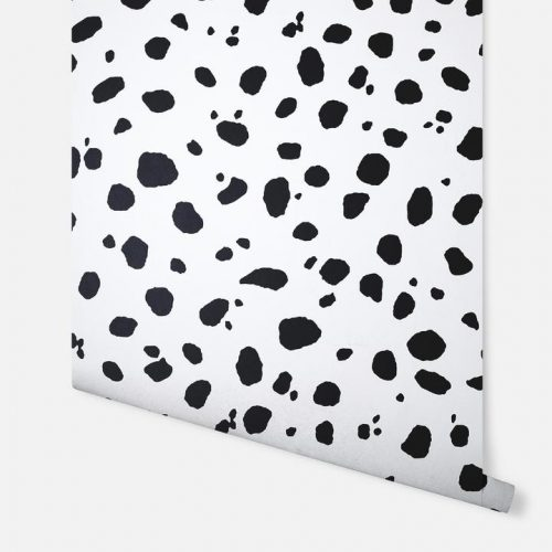 Dalmatian Spot White and Black Arthouse 908509 Wallpaper