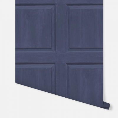 Washed Wood Panel Navy Arthouse 909601 Wallpaper