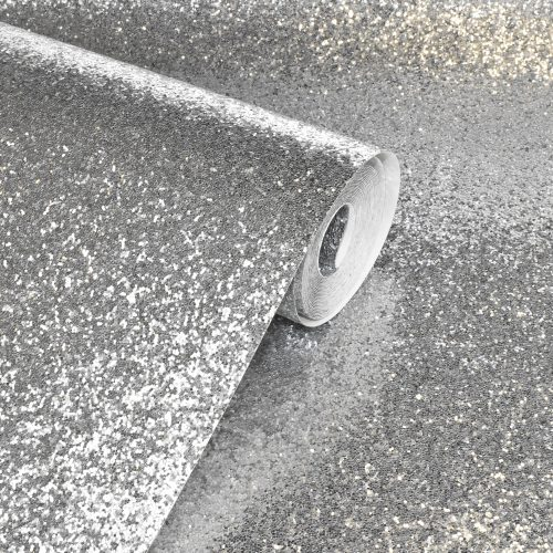 900900 Sequin Sparkle Silver Wallpaper By Arthouse