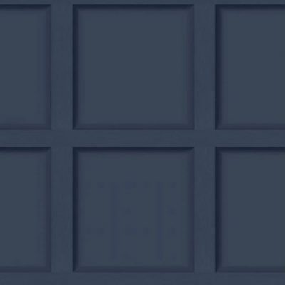 Modern Wood Panel Effect Navy Blue 12980 Holden Wallpaper