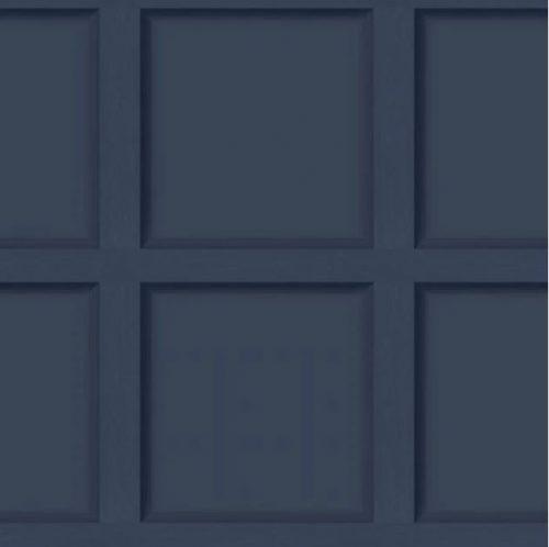 Modern Wood Panel Effect Navy Blue 12980 Holden Wallpaper