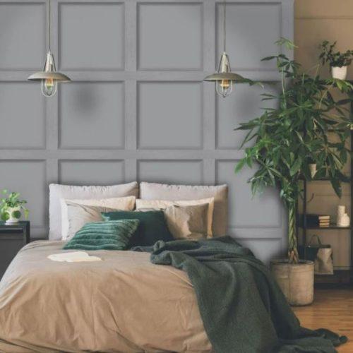 Modern Wood Panel Effect Grey 12981 Holden Wallpaper