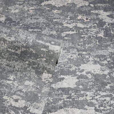 Patina Grey Silver Arthouse Wallpaper 297601