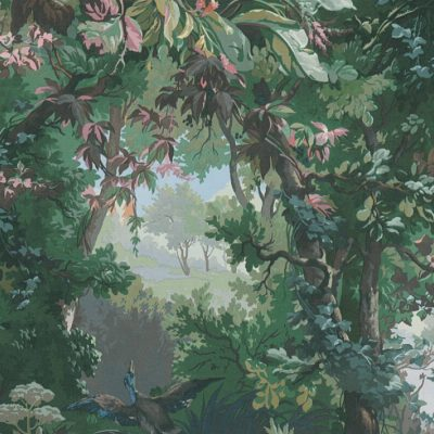 Green Enchanted Forest 37652-1 (376521) Wallpaper History of Art