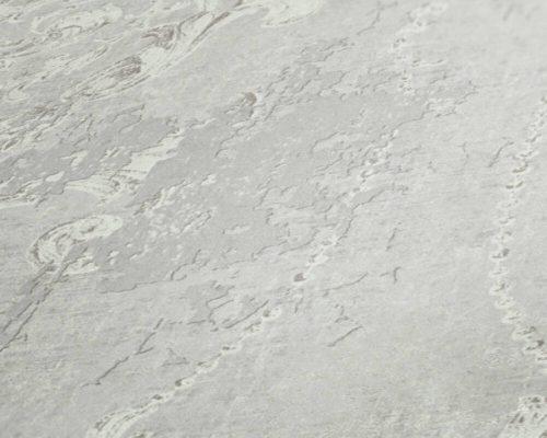 Grey Damask 37653-1 (376531) History of Art Wallpaper