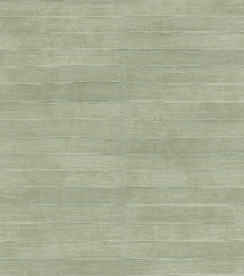 Sage Green Shimmer Faux Leather Tile 418484 Rasch Club Wallpaper