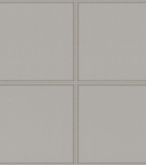 Grey Faux Leather Tile Panel 419009 Rasch Club Wallpaper