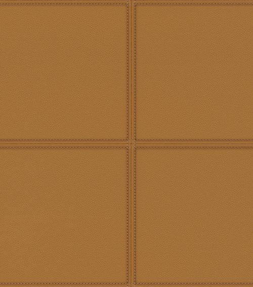 Tan Leather Tile Panel 419016 Rasch Club Wallpaper