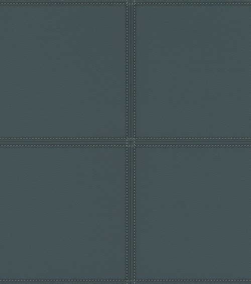 Navy Faux Leather Tile Panel 419054 Rasch Club Wallpaper
