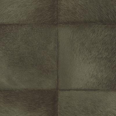 Dark Green Faux Fur Tile Panel 419146 Rasch Club Wallpaper