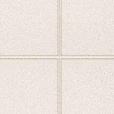 Cream Faux Leather Tile Panel 419467 Rasch Club Wallpaper