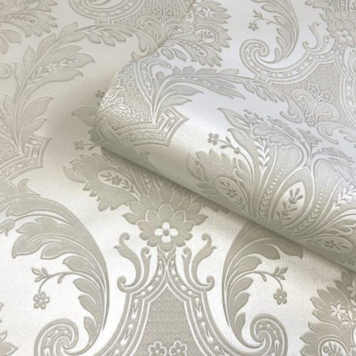 Amara Cream Pearl Damask 7369 Belgravia Decor Wallpaper