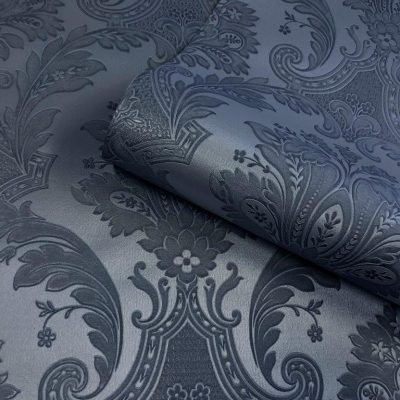 Amara Navy Blue Damask 7371 Belgravia Decor Wallpaper
