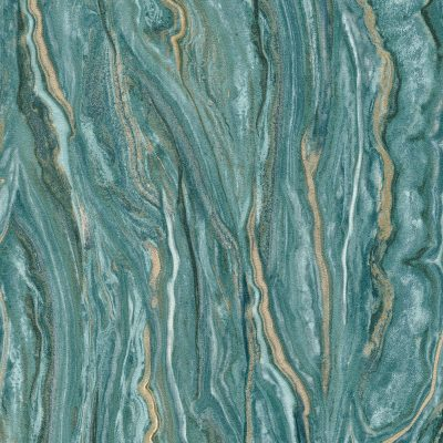 Elle Decoration Teal Marble 10149-36 Wallpaper